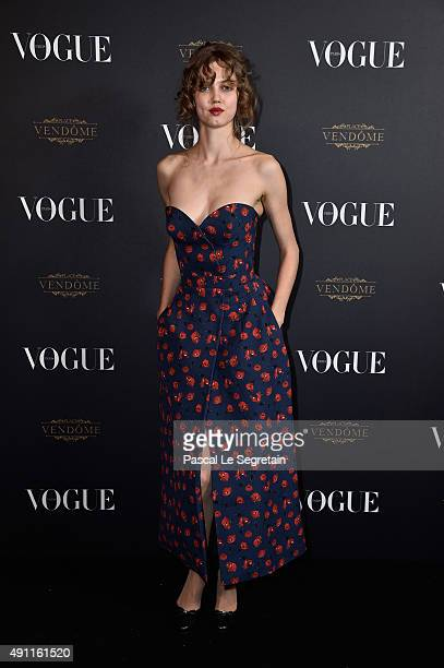 Lindsey Wixson attends the Vogue 95th Anniversary Party on October 3 2015 in Paris France