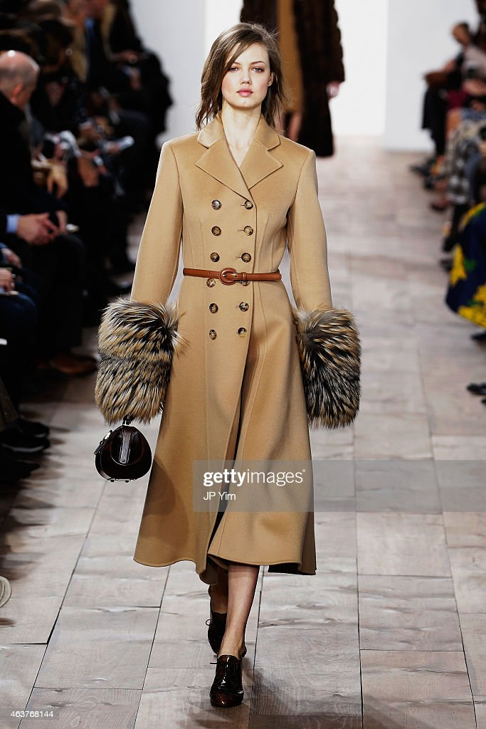 Lindsey Wixson walks the runway at the Michael Kors fashion show during MercedesBenz Fashion Week Fall at Spring Studios on February 18 2015 in New...