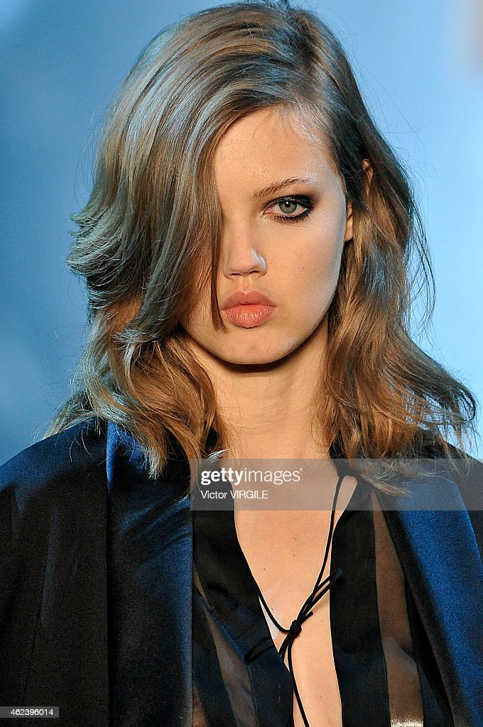 Lindsey Wixson walks the runway during the Alexandre Vauthier show as part of Paris Fashion Week Haute Couture Spring/Summer 2015 on January 27 2015...