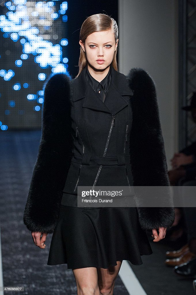 <a gi-track='captionPersonalityLinkClicked' href=/galleries/search?phrase=Lindsey+Wixson&family=editorial&specificpeople=6876942 ng-click='$event.stopPropagation()'>Lindsey Wixson</a> walks the runway during the Maxime Simoens show as part of the Paris Fashion Week Womenswear Fall/Winter 2014-2015 on March 2, 2014 in Paris, France.