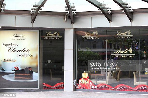 Lindt store on George Street Sydney remains closed on December 16 2014 in Sydney Australia Sydney siege gunman Man Haron Monis was shot dead by...
