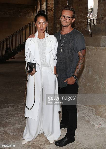 Lindy Klim Adam Ellis attend the Kitx show at MercedesBenz Fashion Week Resort 17 Collections at Paddington Reservoir on May 18 2016 in Sydney...