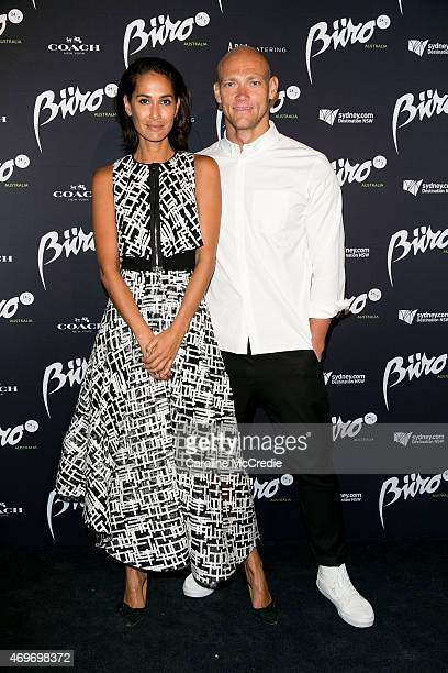 Lindy Klim and Michael Klim attend the Buro 24/7 Australia launch at the Sydney Opera House on April 14 2015 in Sydney Australia