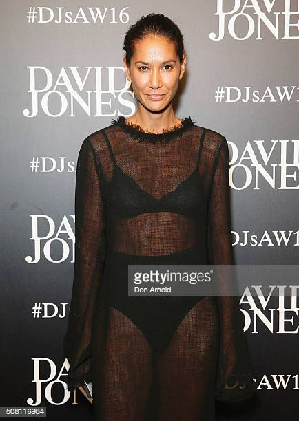 Lindy Klim arrives ahead of the David Jones Autumn/Winter 2016 Fashion Launch at David Jones Elizabeth Street Store on February 3 2016 in Sydney...