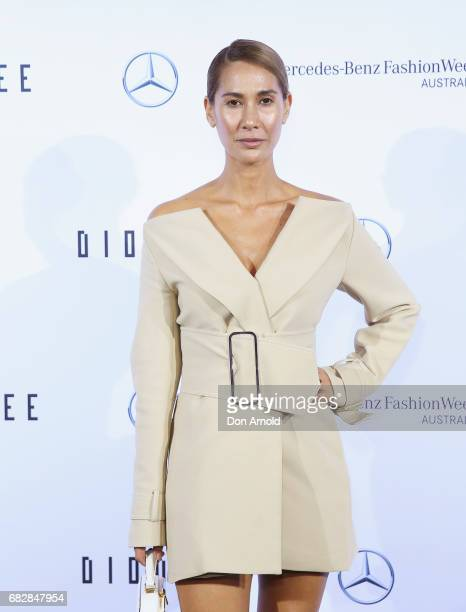 Lindy Klim arrives ahead of the MercedesBenz Presents Dion Lee show at MercedesBenz Fashion Week Resort 18 Collections at the Sydney Opera House on...