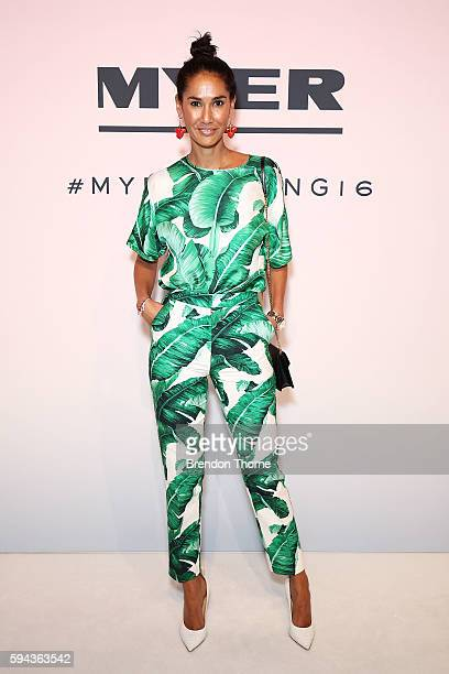 Lindy Klim arrives ahead of the Myer Spring 16 Fashion Launch at Hordern Pavilion on August 23 2016 in Sydney Australia
