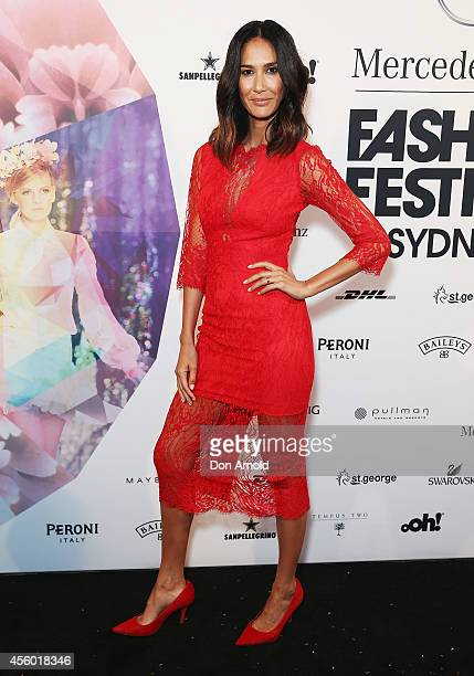 Lindy Klim arrives at the MB Presents Australian Style show during MercedesBenz Fashion Festival Sydney at Sydney Town Hall on September 24 2014 in...