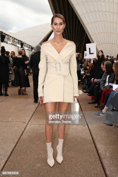Lindy Klim attends the MercedesBenz Presents Dion Lee show at MercedesBenz Fashion Week Resort 18 Collections at the Sydney Opera House on May 14...