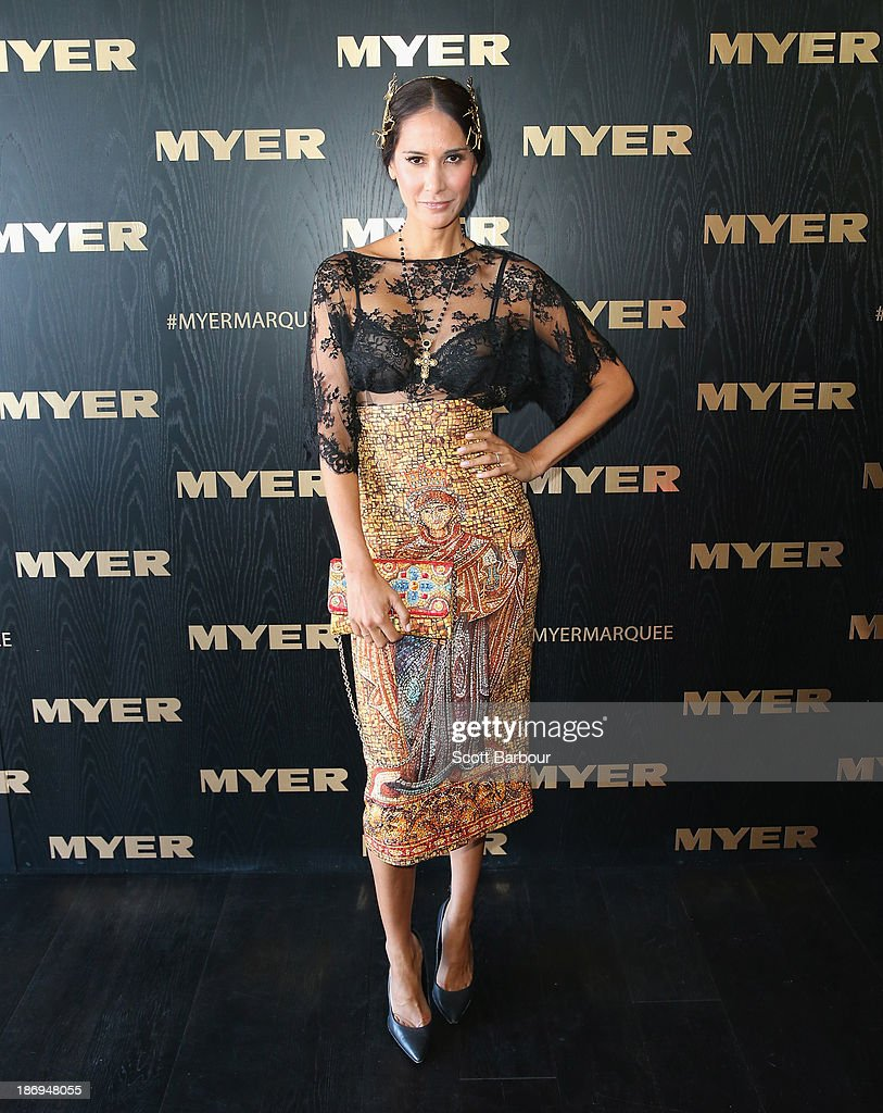 Lindy Klim attends the Myer marquee during Melbourne Cup Day at Flemington Racecourse on November 5, 2013 in Melbourne, Australia.