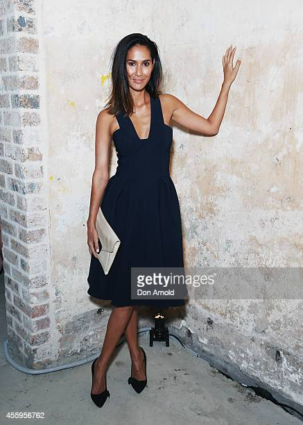 Lindy Klim poses during a Tiffany Co gala dinner for the launch of Tiffany T on Castlereagh Street on September 23 2014 in Sydney Australia