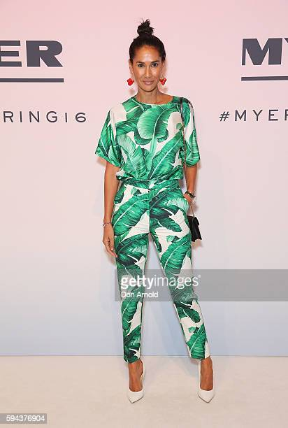 Lindy Klim poses on the red carpet during the Myer Spring 16 Launch at Hordern Pavilion on August 23 2016 in Sydney Australia