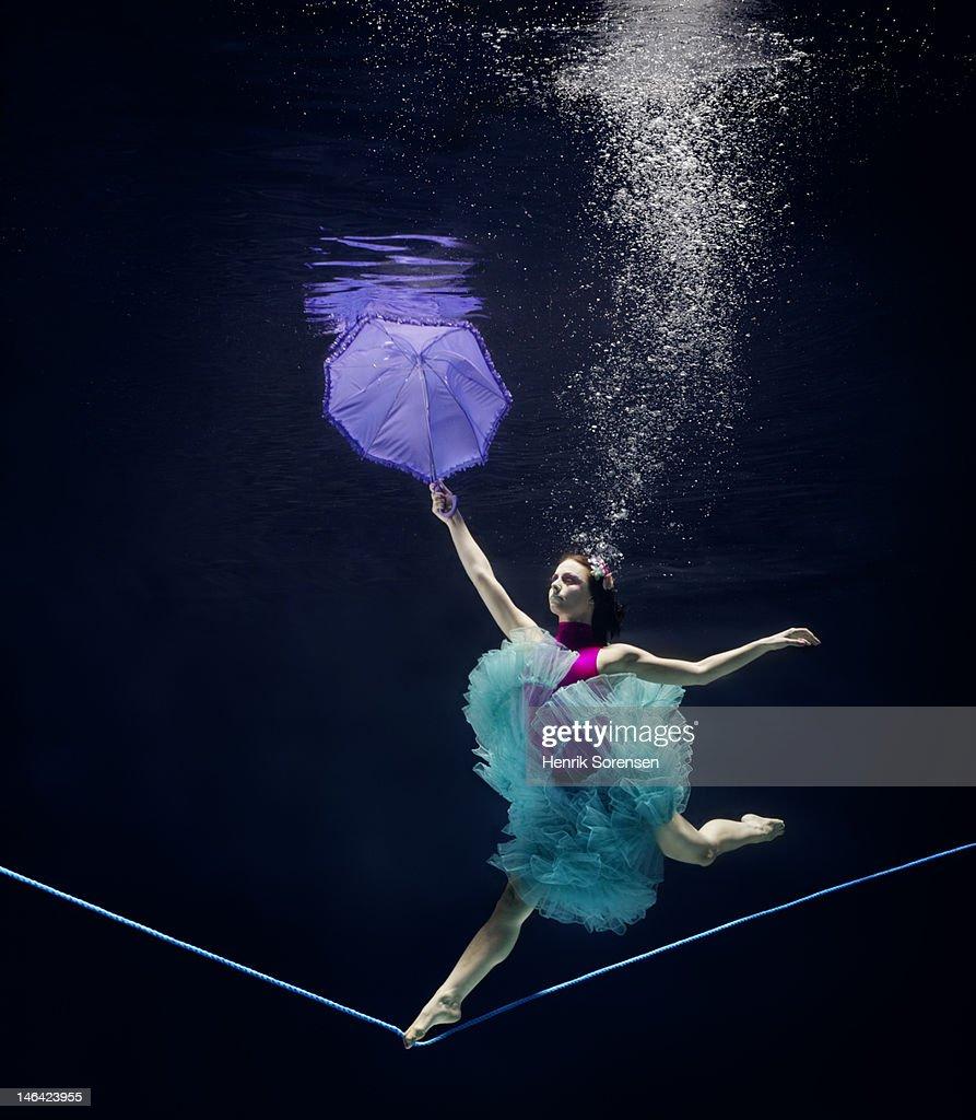 line dancer underwater : Stock Photo