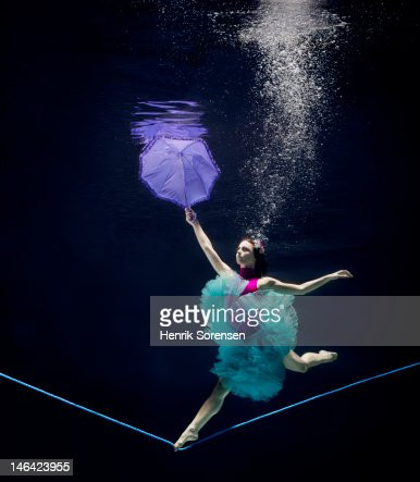 line dancer underwater