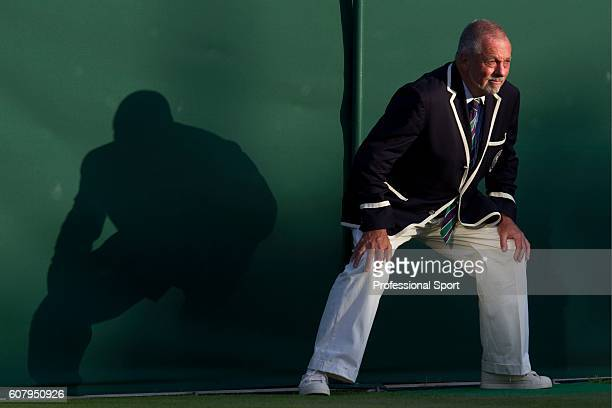 A line judge in action on Day Two of the Wimbledon Lawn Tennis Championships at the All England Lawn Tennis and Croquet Club on June 21 2011 in...