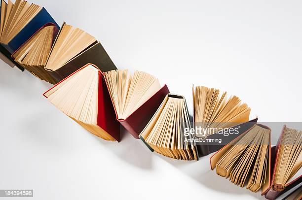 独立したラインの書籍表紙をカバー、ファンページ