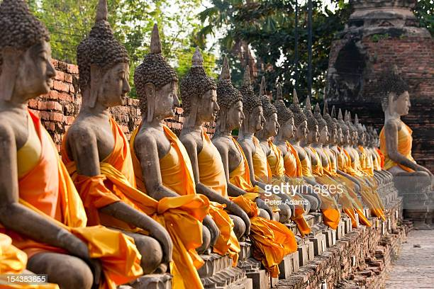 Line of Buddhas, Chai Mongkol, Wat Yai, Thailand