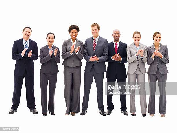 Line of Business People Clapping - Isolated