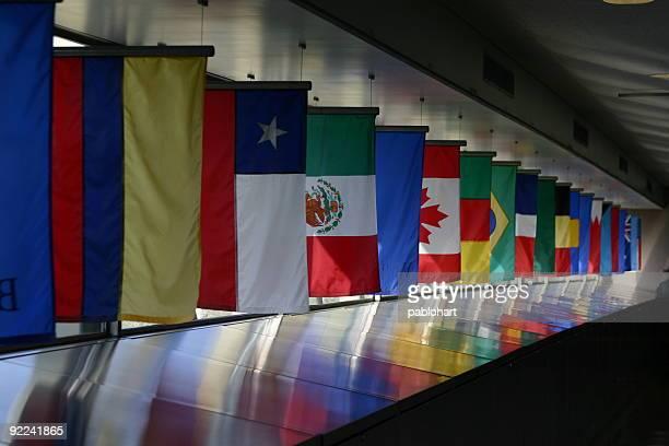 Ligne de drapeaux de pays