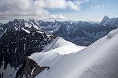 Line of mountaineers
