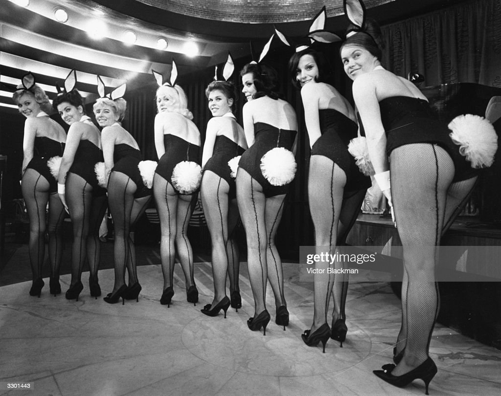A lineup of Bunny Girls at a Playboy club