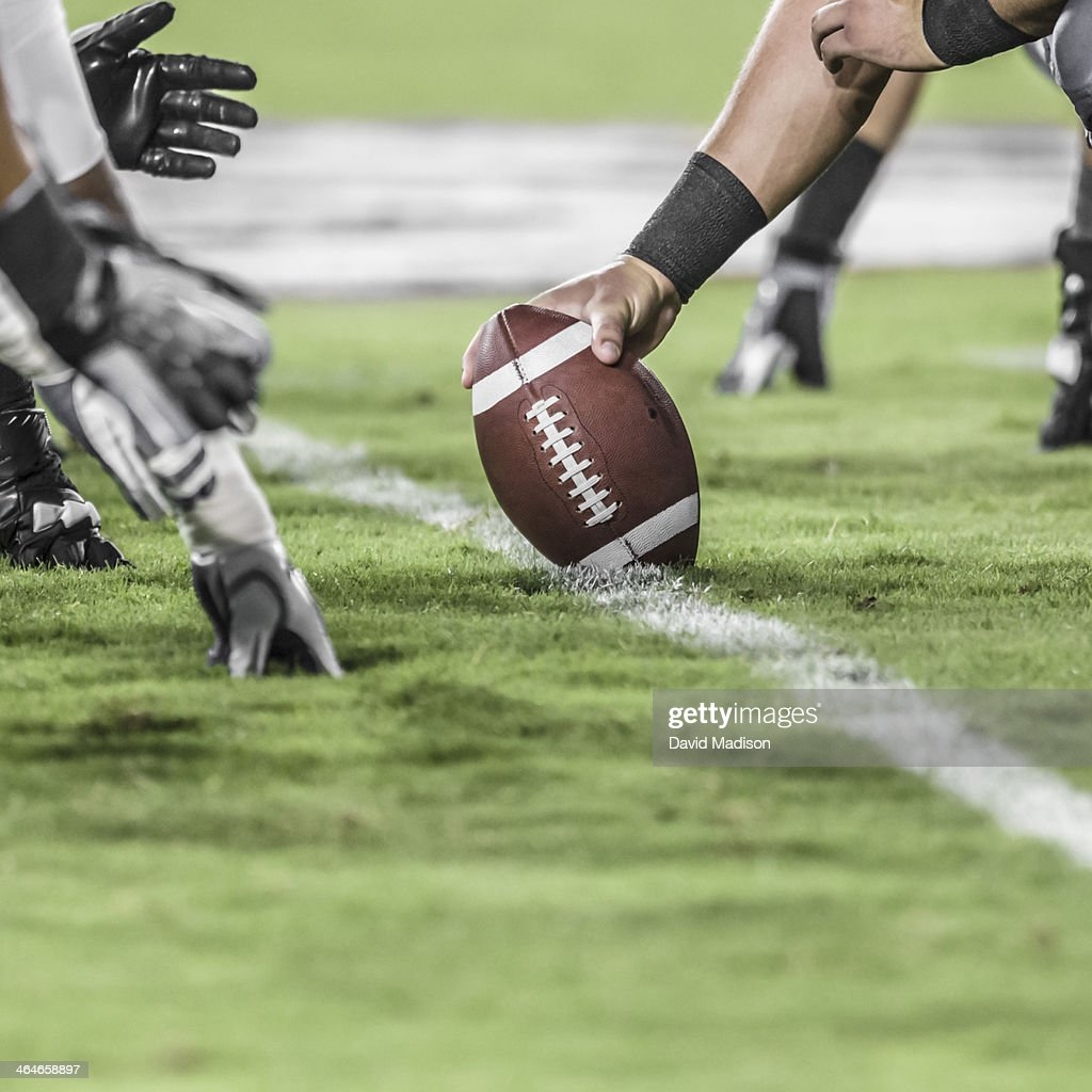 Line of scrimmage.  American football.