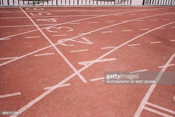 Line on running track