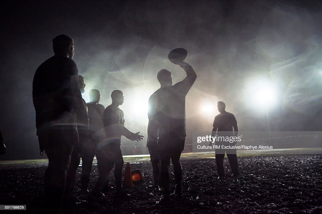 Line out, overhead pass on muddy field