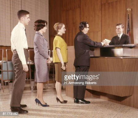 line people group waiting bank teller banking stock photo getty images. Black Bedroom Furniture Sets. Home Design Ideas