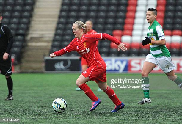Line Smorsgard of Liverpool Ladies in action during the preseason friendly between Liverpool Ladies and Yeovil Town Ladies at Select Security Stadium...