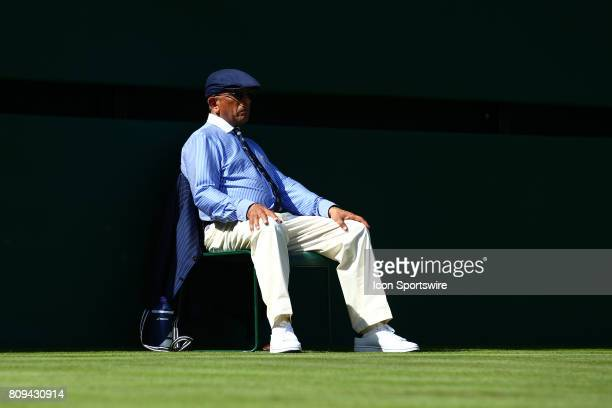 Line umpire during day one match of the 2017 Wimbledon on July 3 at All England Lawn Tennis and Croquet Club in LondonEngland