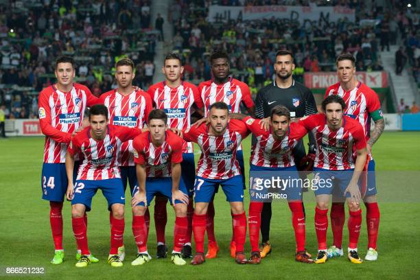 Line up of Atletico de Madrid during the match between Elche CF vs Atletico de Madrid round of 16 1st leg of Copa del Rey 2017/18 in Martinez Valero...