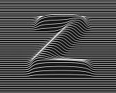 linear 3d font letter Z