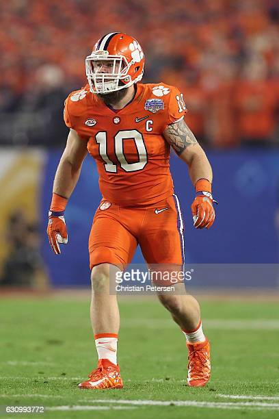 Linebacker Ben Boulware of the Clemson Tigers in action during the Playstation Fiesta Bowl against the Ohio State Buckeyes at University of Phoenix...