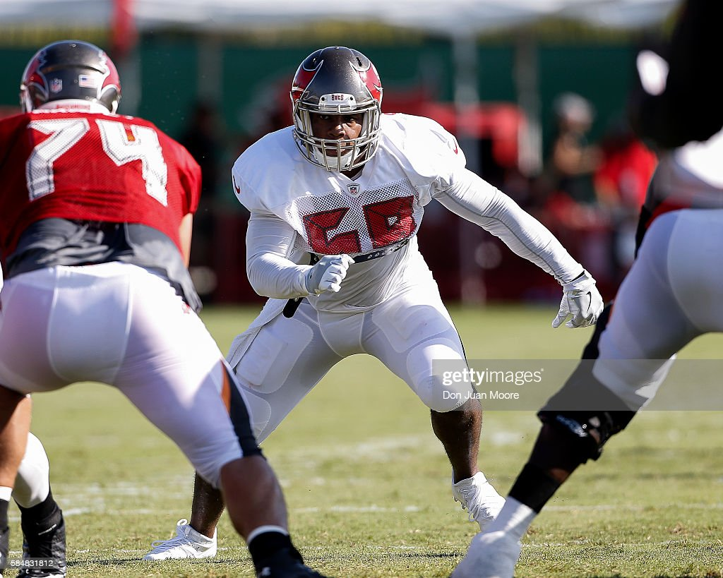0409304e9 ... Linebacker Kwon Alexander 58 of the Tampa Bay Buccaneers works out  during Training Camp at Nike NFL ...