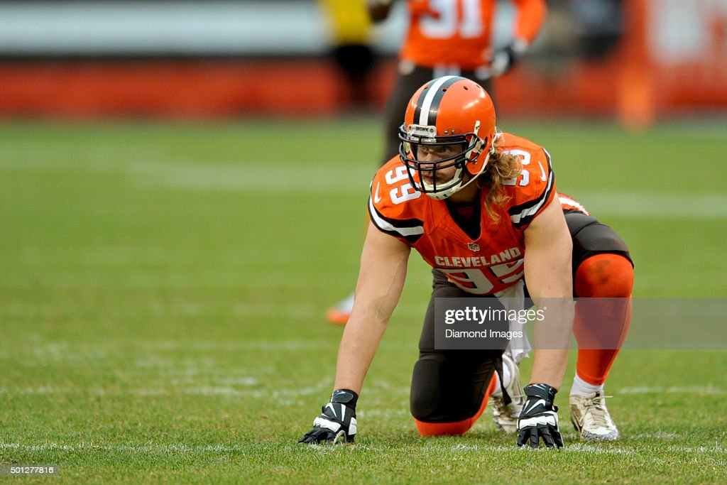 Linebacker Paul Kruger #99 of the Cleveland Browns awaits the snap to rush the passer during a game against the San Francisco 49ers on December 13, 2015 at FirstEnergy Stadium in Cleveland, Ohio. Cleveland won 24-10.