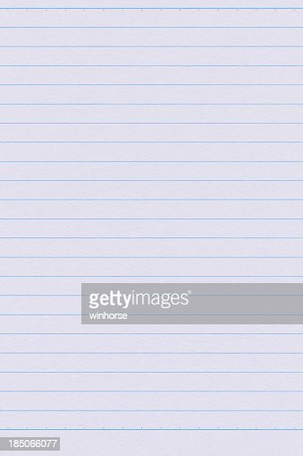 Lined Paper Stock Photo | Getty Images