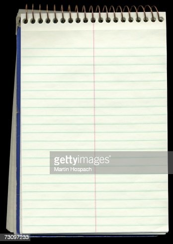 Lined spiral notebook