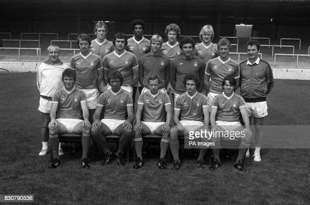 Lined up at the City Ground Nottingham ready for the 1978/79 season are last season's League Champions Nottingham Forest Football Club Back Row from...