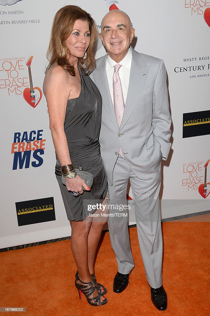 Linell Thomas and attorney Robert Shapiro attend the 20th Annual Race To Erase MS Gala 'Love To Erase MS' at the Hyatt Regency Century Plaza on May 3, 2013 in Century City, California.