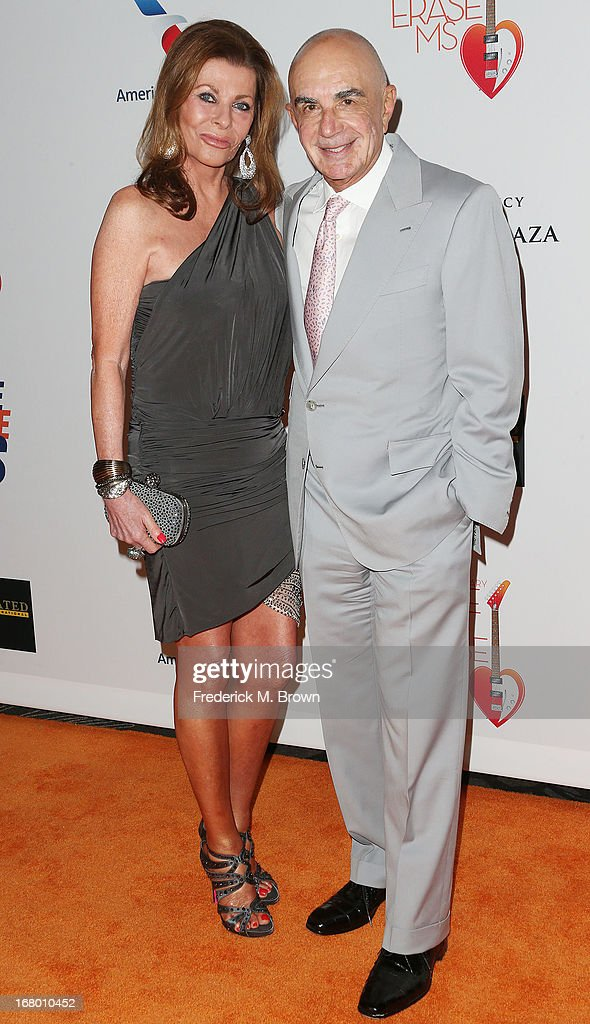 Linell Thomas (L) and attorney Robert Shapiro attend the 20th Annual Race to Erase MS Gala 'Love to Erase MS' at the Hyatt Regency Century Plaza on May 3, 2013 in Century City, California.