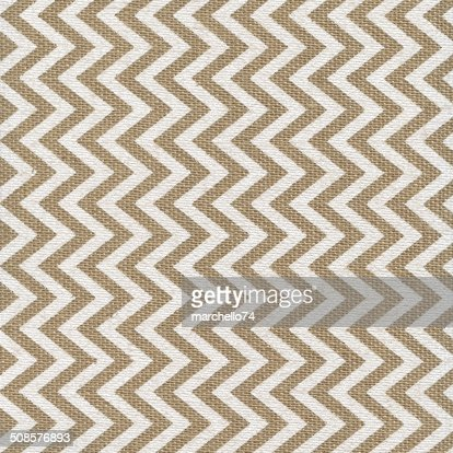Linen texture with white painted pattern : Stock Photo
