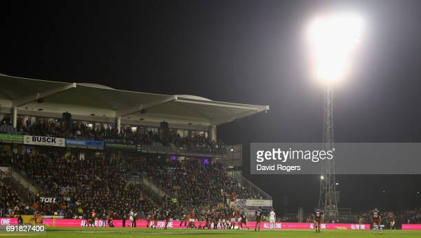 A lineout during the match between the New Zealand Provincial Barbarians and the British Irish Lions at Toll Stadium on June 3 2017 in Whangarei New...