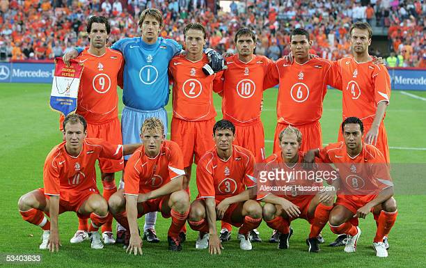 Lines up Team Netherlands Ruud van Nistelrooy Edwin van der Sar Jan Kromkamp Phillip Cocu Hedwiges Maduro Barry Opdam Arjen Robben Dirk Kuyt Khalid...