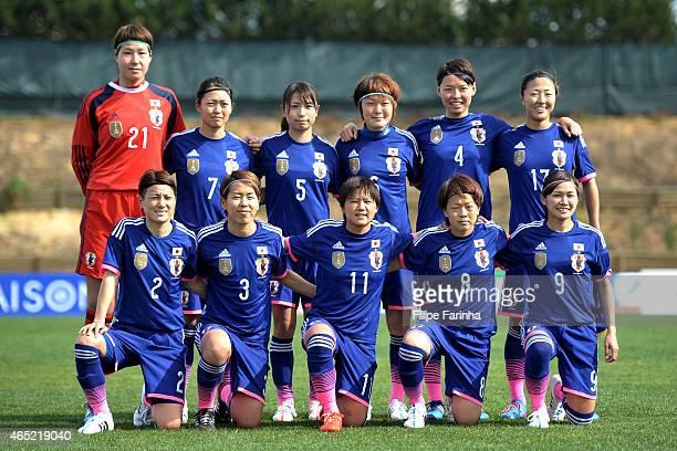 Lineup formation of Japan with Erina Yamane Kozue Ando Aya Sameshima Mizhuho Sakaguchi Saki Kumagai Yuki Ogimi and Yuraki Kinga Azusa Iwashimizu...
