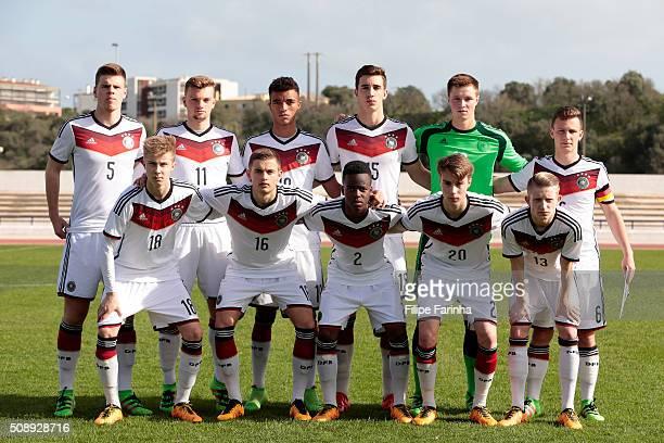 Lineup of Germany with Florian Baak Manuel Wintzheimer Timothy Tillman Sven Sonnenberg Lennart Grill Jannis Kubler Sam Francis Schreck Jan Baxmann...