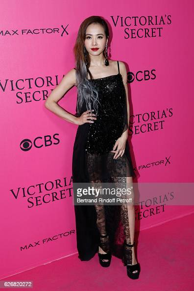 Ling Jolin Tsai attends the 2016 Victoria's Secret Fashion Show Held at Grand Palais on November 30 2016 in Paris France