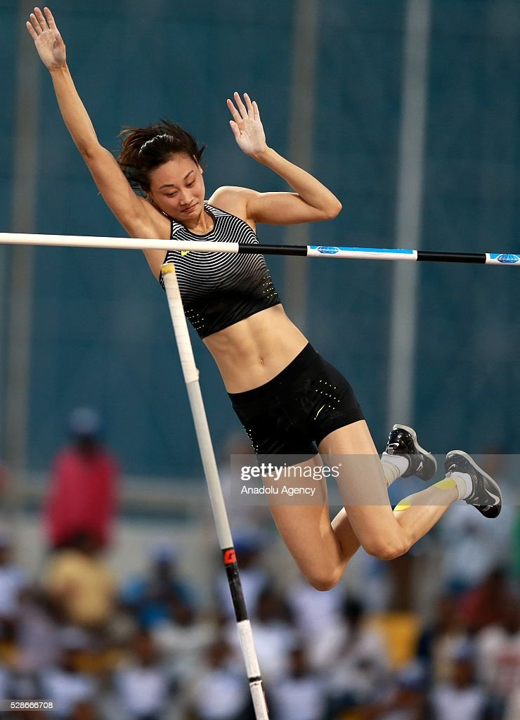 Ling Li of the China competes during the Pole Vault at the Diamond League athletics competition at the Qatar Sports Club Stadium in Doha, Qatar on May 6, 2016.