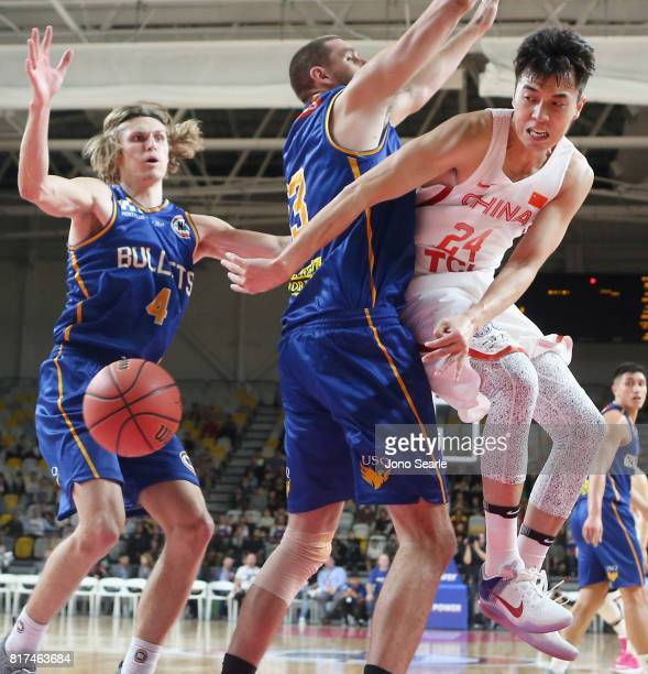 Ling Xu Zeng of China during the match between the Brisbane Bullets and China at the Gold Coast Sports Leisure Centre on July 18 2017 in Gold Coast...