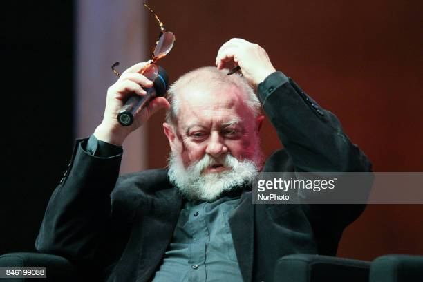 Linguist professor of humanities specialist in media language advertising and politics Jerzy Bralczyk is seen in Gdansk Poland on 11 September 2017...