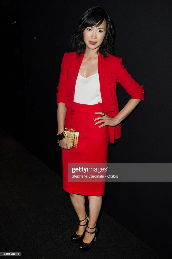 Linh Dan Pham attends Elie Saab show, as part of the Paris Fashion Week Womenswear Spring/Summer 2014, in Paris.